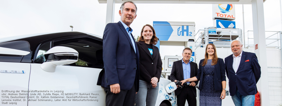 Opening of the TOTAL Hydrogen Service Station in Leipzig