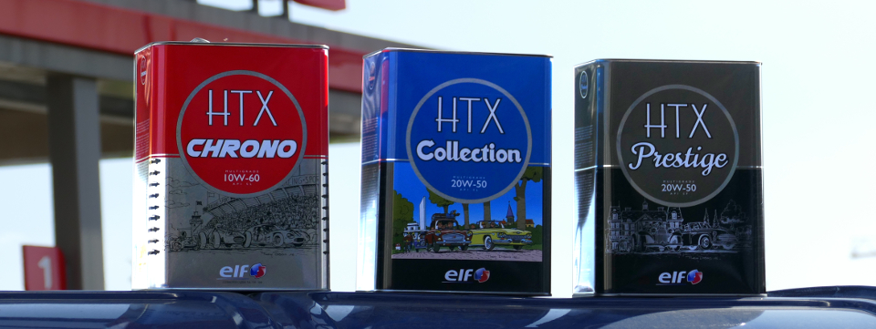 ELF HTX engine oil a brand of TOTAL