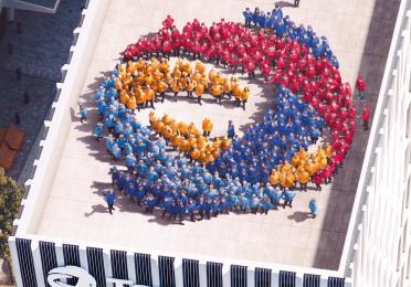 TOTAL staff at Tour TOTAL